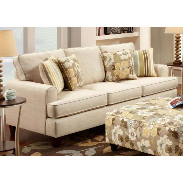 Hudson sofa sleeper in marlboro ivory fabric dcg stores for Sofa hudson