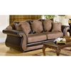 Vicky Chocolate and Mocha Upholstered Sofa - CHF-2700-S-BM