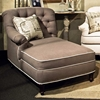 Anastacia Tufted Chaise - Nail Heads, Lindy Chinchilla Fabric - CHF-271980-701
