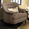 Anastacia Tufted Armchair - Nail Heads, Lindy Chinchilla Fabric - CHF-271983-011