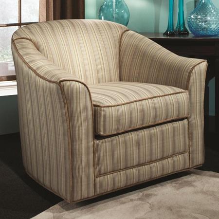 Doris Barrel Back Swivel Glider Chair Deville Spa Fabric