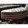 Corrina Half Moon Ottoman - Twisted Rope, Voyager Cobblestone - CHF-271986-39-VC
