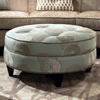 esse round fabric ottoman  tufting beverly drizzle  dcg stores -