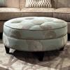 - Round Fabric Ottoman