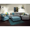 Tiffany 3-Piece Sectional Sofa - Buttons, Milan Pool Fabric - CHF-278000A-SEC