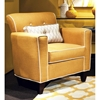 Ally Transitional Armchair - Buttons, Lindy Marigold Fabric - CHF-278000A-011