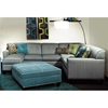 Tiffany 3-Piece Sectional Sofa - Buttons, Milan Pool Fabric