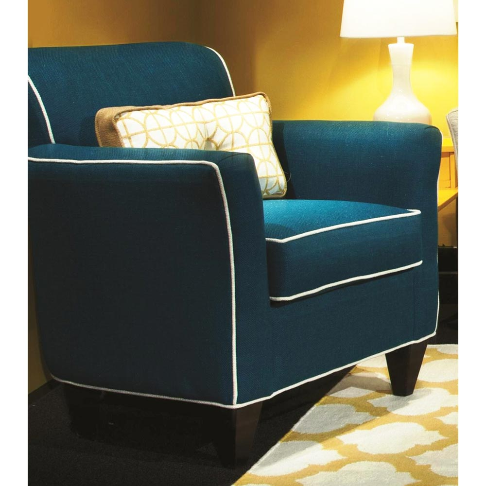 yvette padded armchair contrasting welts lindy cayman