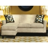 Yvette Contemporary Sofa & Ottoman - Chaise Cushion, Nostalgia Marshmallow - CHF-278000B-03-591