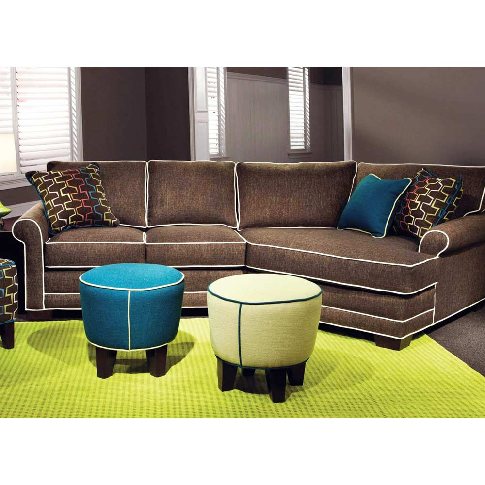 Simpson 2 piece roll arm sectional sofa nostalgia mink for Sectional sofa pieces sold separately