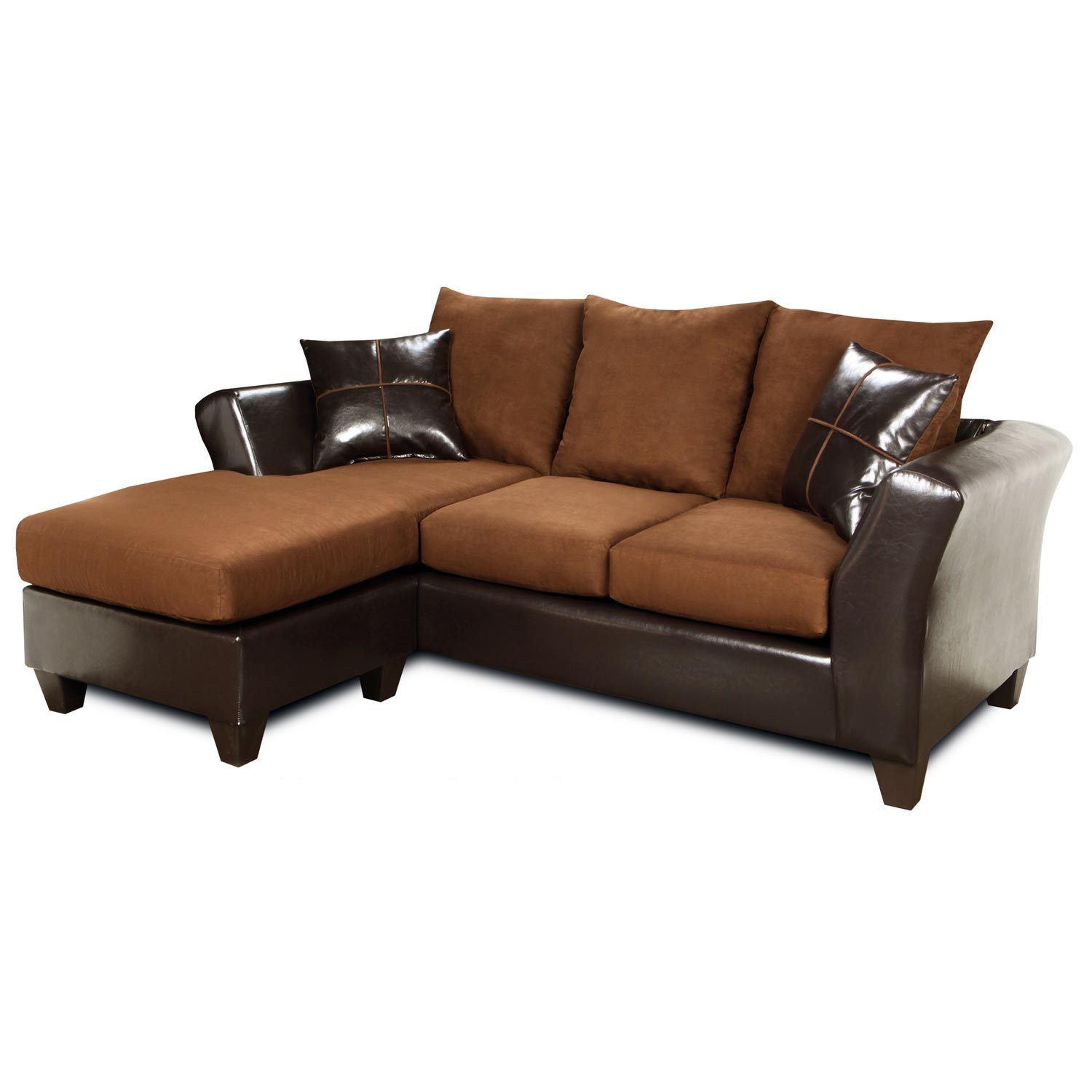 Peyton Sofa Ottoman Chaise Cushion Flat Suede Chocolate Dcg Stores
