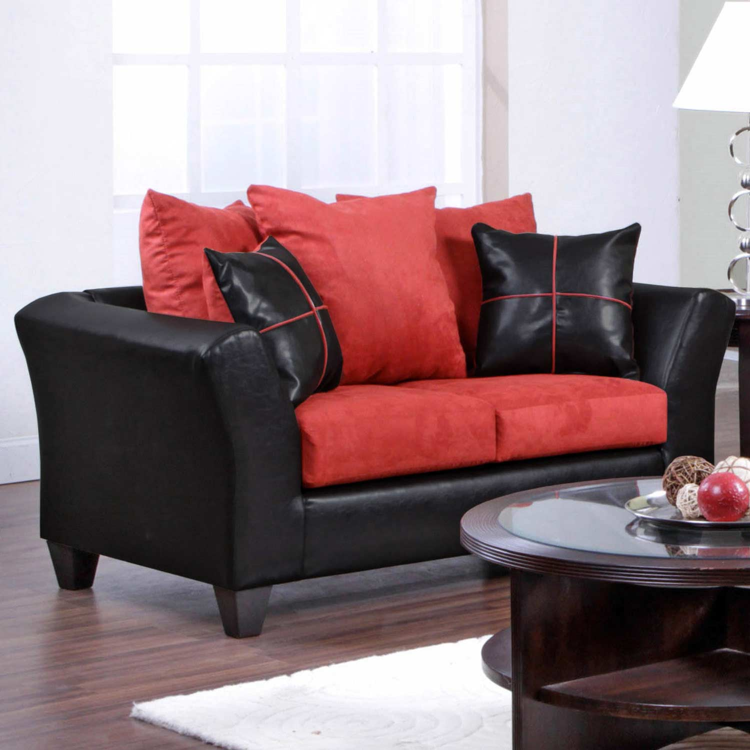 Cynthia Modern Loveseat Denver Black Victory Cardinal Dcg Stores