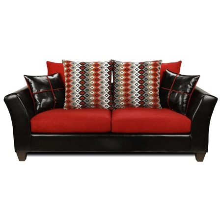 Cynthia Modern Sofa Patterned Pillows Denver Black Dcg Stores