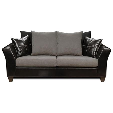 cynthia modern sofa denver black flat suede graphite