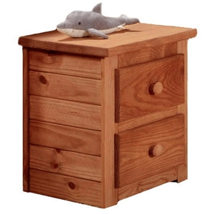 2-Drawer Nightstand - Bead Board Sides, Mahogany Finish
