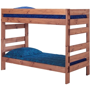 Twin Stackable Bunk Bed - Mahogany Finish