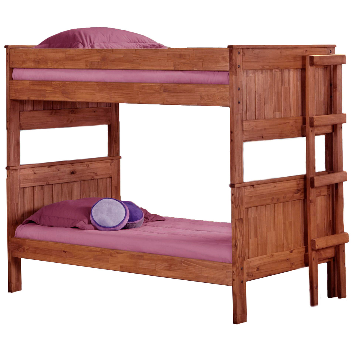 Twin Stackable Bunk Bed Ladder Mahogany Finish