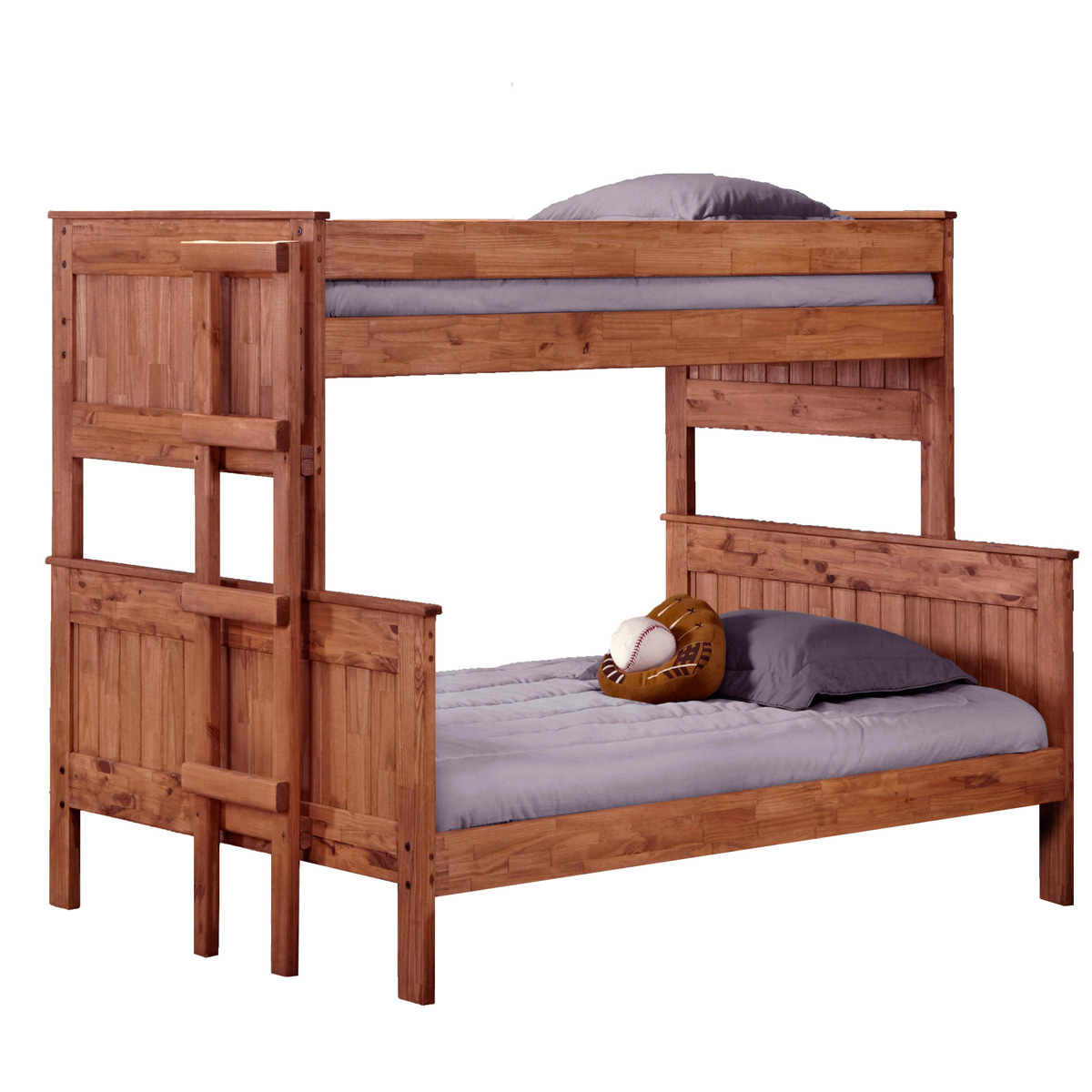 Twin Over Full Stackable Bunk Bed Ladder Mahogany
