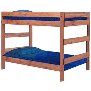 Full Over Full Bunk Bed - Mahogany Finish