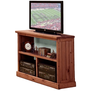 Wooden TV Stand - Open Back, Mahogany Finish