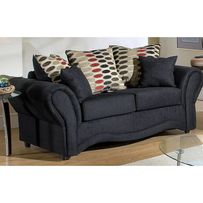 Jasmine Contemporary Loveseat with Accent Pillows - CHF-3200-L