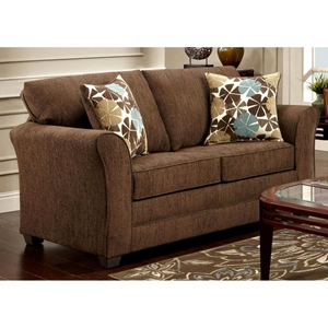 Essex Loveseat - Accent Pillows, Council Fudge Fabric