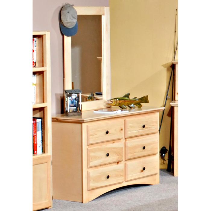 6 Drawer Dresser Amp Portrait Mirror Desert Sand Finish