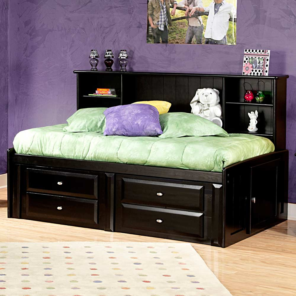 Twin Mate S Bed Side Bookcase Black Cherry Finish Dcg