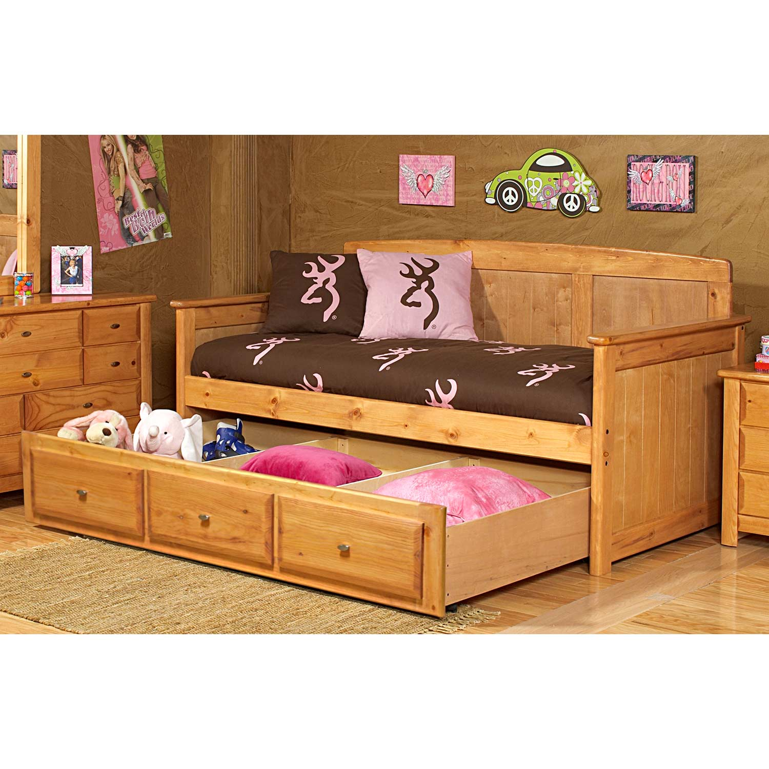 cottage style daybed storage trundle  caramel finish cottage style daybed bedding cottage style wood daybed