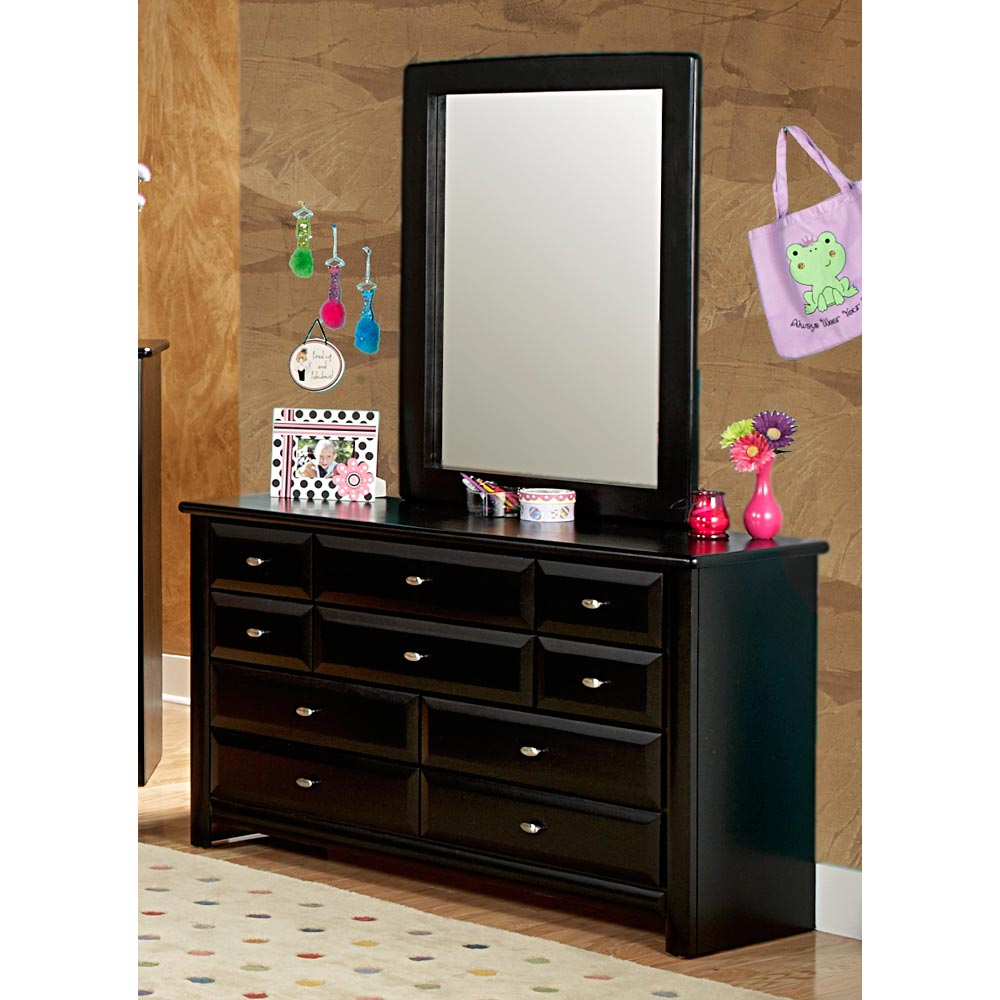 9 Drawer Dresser Amp Portrait Mirror Oval Knobs Black
