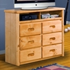 6-Drawer Media Chest - Recessed Handles, Cinnamon Finish - CHF-3544198