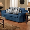 Marsha Sofa - Rolled Arms, Tahoe Navy Fabric - CHF-3550-S