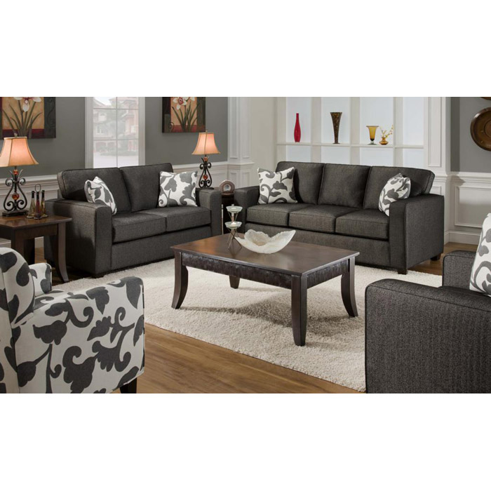 Bergen Talbot Onyx Upholstered Living Room Sofa Set Dcg Stores