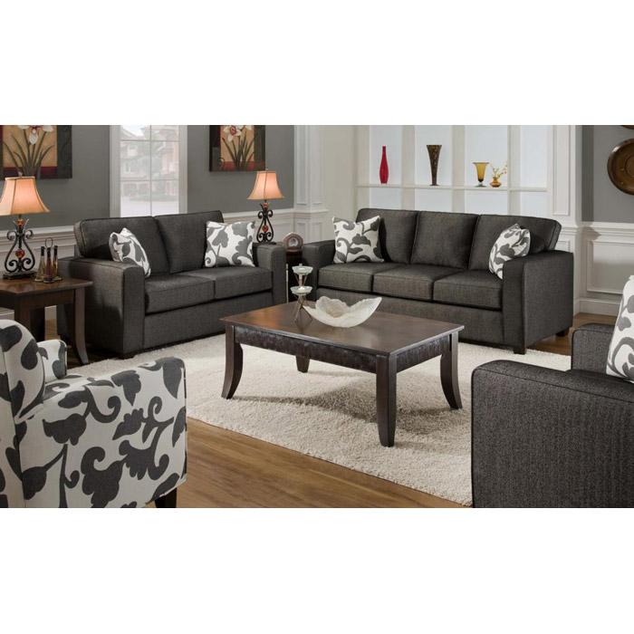 Bergen Talbot Onyx Upholstered Living Room Sofa Set Dcg