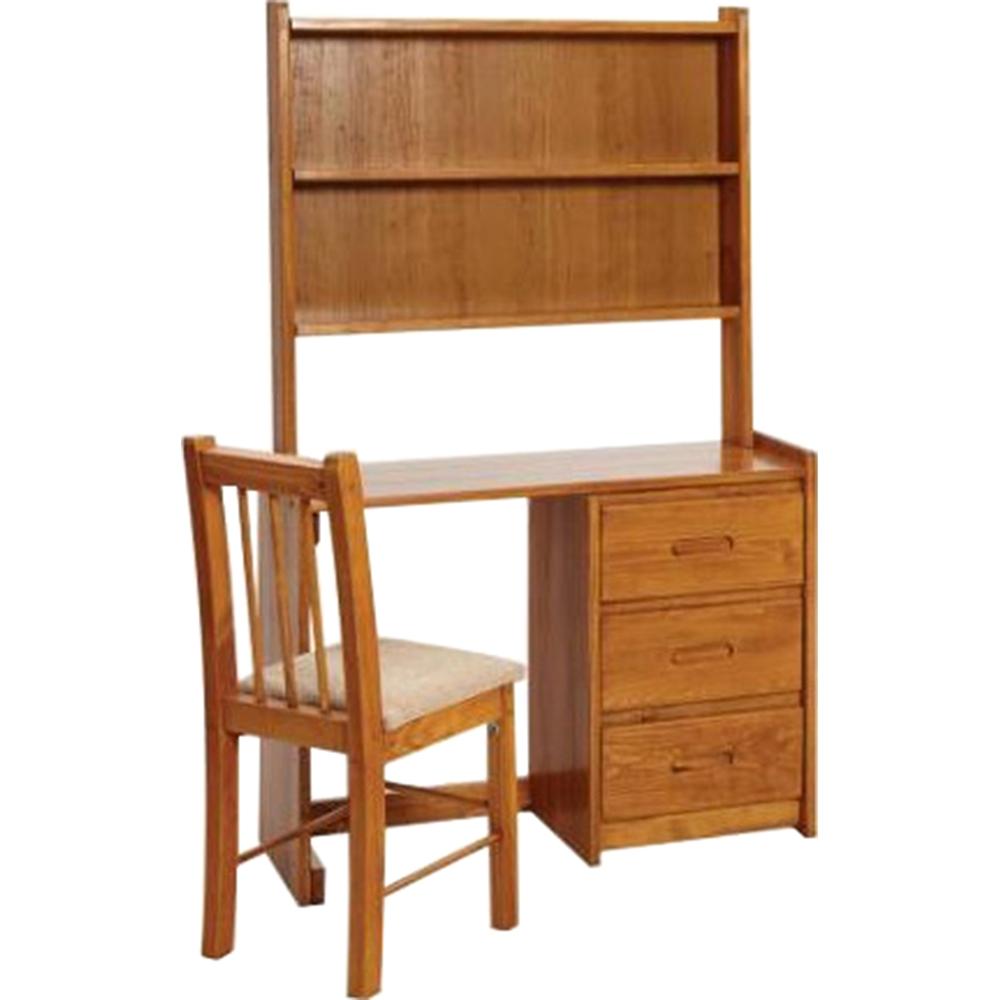 Wooden Desk 3 Storage Drawers Honey Finish Dcg Stores