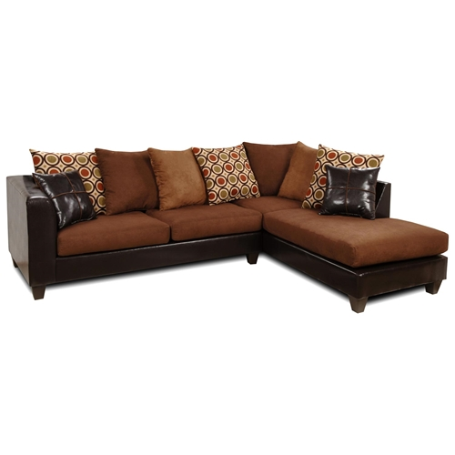 Ashley chaise sectional sofa multicolored pillows dcg for Ashley san marco chaise