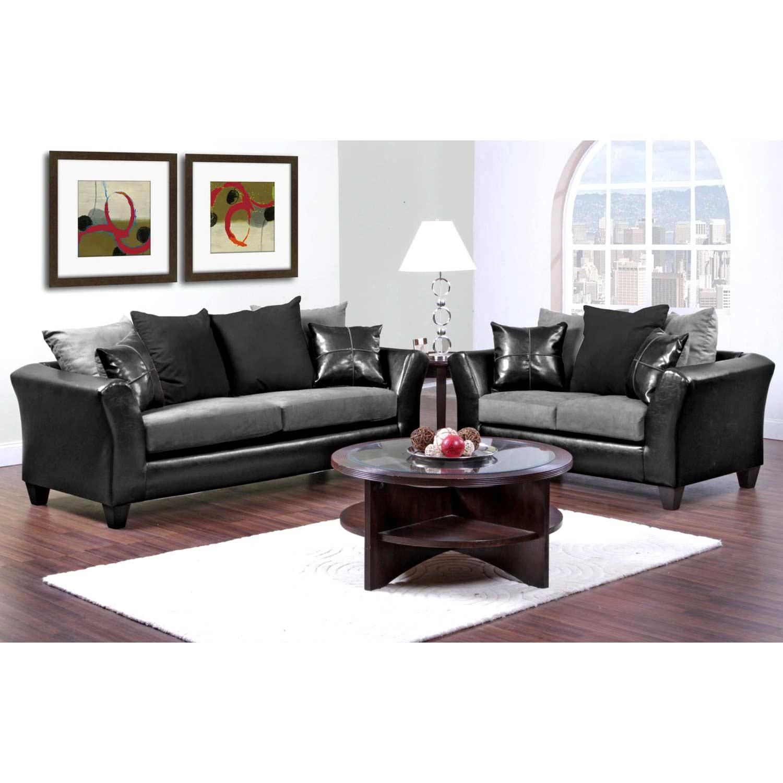 ... Gamma Modern Loveseat   Sierra Graphite Microfiber Cushions    CHF 424170 02 L