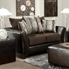 Eta Flared Arm Loveseat - Jefferson Chocolate Upholstery - CHF-424173-01-L