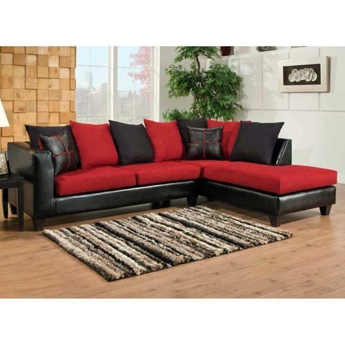 Mu sofa chaise sectional microfiber cushions for Black microfiber sectional sofa with chaise