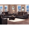 Kappa Upholstered Sofa - Block Feet, Velvety Fabric Cushions - CHF-427000-01-S