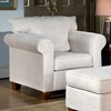 Kathy Fabric Chair with Cherry Legs - CHF-4400-C