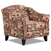 Essex Lounge Chair in Caravan Garnet Print Fabric - CHF-FS452-C-CG