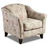 Gloucester Lounge Chair in Postale Ruby Print Fabric - CHF-FS452-C-PR