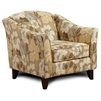 Hudson Floral Fabric Lounge Chair