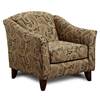 Sussex Tarawood Metal Pattern Fabric Accent Chair - CHF-FS452-C-TM