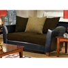 Jane 3 Piece Modern Living Room Set in Java - CHF-4650-BJ-SET