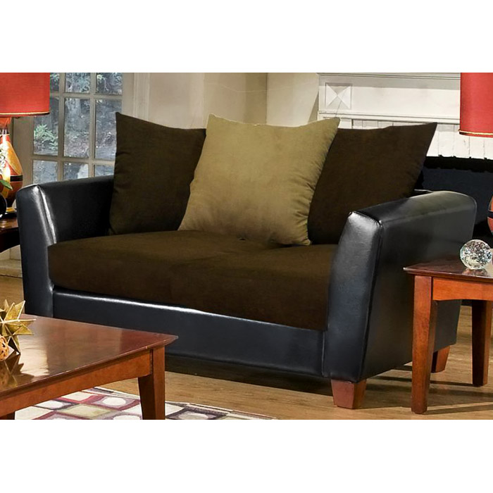Jane Modern Loveseat With Java Seat Cushions Dcg Stores