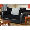 Jane Modern Loveseat with Black Seat Cushions - CHF-4650-L-BB