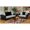 Jane Two-Toned Modern Sofa with Upholstered Base - CHF-4650-S-BL