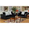 Jane Modern Sofa with Black Seat Cushions - CHF-4650-S-BB